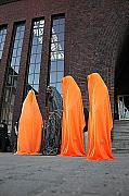 Drawing Sculpture Originals - Light sculpture by Manfred Kielnhofer contemporary art
