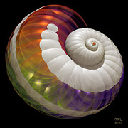 Recursive Digital Art - Light Shell by Manny Lorenzo