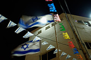Star Of David Photos - Light Shinning Through The Flag by Keenpress