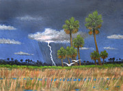 Egrets Paintings - Light Show by Gordon Beck