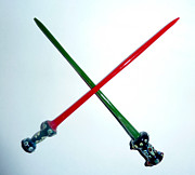 Glass Dabber Posters - Light Swords Poster by Glass Dabber