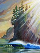 Rays Paintings - Light The Way by Patrick Parker