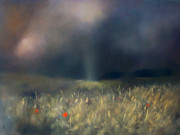 Light Shaft Paintings - Light Through Distant Thunder by Robert Selkirk