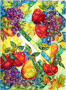 Grapes Painting Posters - Light Through Glass Poster by Ann  Nicholson