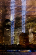 Nyc Digital Art Metal Prints - Light Towers Metal Print by Andrea Barbieri