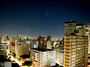 Sao Paulo Photo Framed Prints - Light Trail Framed Print by Rodrigo Ferroni