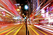 Road Travel Posters - Light Trails Poster by Andi Andreas
