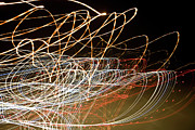 Blurred Motion Posters - Light Trails At Night Poster by Frederick Bass