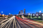 Road Travel Prints - Light Trails Print by B. Koprowski
