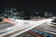 Traffic Prints - Light Trails On Road Print by Photography by Shin.T