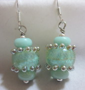 Silver Turquoise Jewelry - Light Turquoise Delight Earrings by Janet  Telander