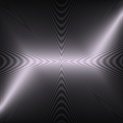 Op Art Digital Art Posters - Light Waves Poster by Visual Artist  Frank Bonilla