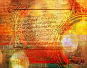 Transformation Mixed Media Prints - Light Word Print by Fania Simon
