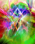 Ornamental Digital Art - Lightbattle II by Ann Croon