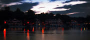 Lighted Framed Prints - Lighted Boathouse Row Framed Print by Bill Cannon