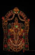 Goddess Durga Photo Posters - Lighted Durga Poster by Umesh U V