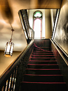 Frame Print Framed Prints - Lighted Stairway Framed Print by Steven Ainsworth