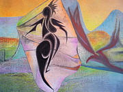 Visionary Artist Originals - Lightening Woman Faces the Phoenix by George  Page
