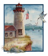 Smith Painting Originals - Lighthouse 2 by Marilyn Smith