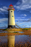 Navigation Digital Art Posters - Lighthouse Poster by Adrian Evans