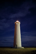 Protection Posters - Lighthouse Against Sky With Stars Poster by Bkort photography