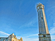 Alcatraz Metal Prints - Lighthouse-Alcatraz Metal Print by Douglas Barnard