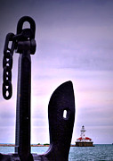 Harbor Art - Lighthouse Anchored by Emily Stauring