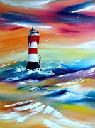 World No. 1 Paintings - Lighthouse  by Andreas Wemmje