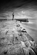 Whitby Framed Prints - Lighthouse Framed Print by Andy Freer