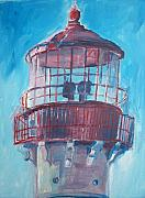Lighthouse Drawings - Lighthouse At Cape May by Eric  Schiabor