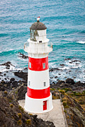 Navigate Framed Prints - Lighthouse at Cape Palliser New Zealand Framed Print by Johan Larson