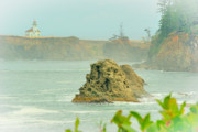 Coos Framed Prints - Lighthouse at Coos Bay Framed Print by Dale Stillman