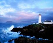 Dawns Photo Prints - Lighthouse At Fanad Head, Co Donegal Print by The Irish Image Collection