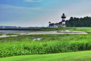Head Harbour Lighthouse Prints - Lighthouse at Harbour Town Print by Lyle  Huisken
