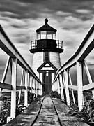 Nantucket Island Posters - Lighthouse at Nantucket Island I - black and white Poster by Hideaki Sakurai