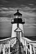 Lighthouse At Nantucket Island II - Black And White Print by Hideaki Sakurai