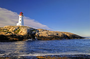 Sea Digital Art Originals - Lighthouse at Peggys Cove by Donna Caplinger