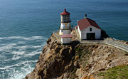 Saving Prints - Lighthouse at Point Reyes Print by Bob Christopher