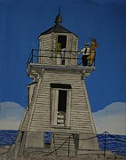 Clinton Originals - Lighthouse At Port Clinton Ohio by Gordon Wendling