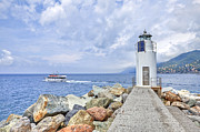 Genoa Photo Framed Prints - Lighthouse Camogli Framed Print by Joana Kruse