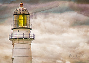 Maine Metal Prints - Lighthouse Cape Elizabeth Maine Metal Print by Bob Orsillo