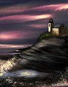 Dale Ford Prints - Lighthouse Print by Dale   Ford