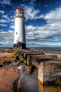 Talacre Digital Art Acrylic Prints - Lighthouse Entrance Acrylic Print by Adrian Evans