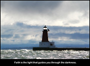 J.p. Prints - Lighthouse Faith Print by Mark J Seefeldt