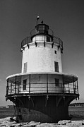 Maine Shore Posters - Lighthouse III - black and white Poster by Hideaki Sakurai