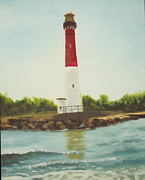 Lighthouse In Long Beach Island Print by Al Fonollosa