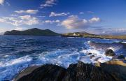 Rocky Coasts Framed Prints - Lighthouse In The Distance, Fort Point Framed Print by Gareth McCormack