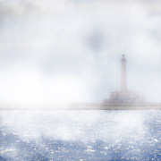 Hidden Photo Posters - Lighthouse in the fog Poster by Joana Kruse
