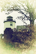 New England Lighthouse Prints - Lighthouse  Print by Karol  Livote