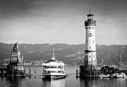 Lindau Framed Prints - Lighthouse Lindau Lake Constance Germany Framed Print by Matthias Hauser